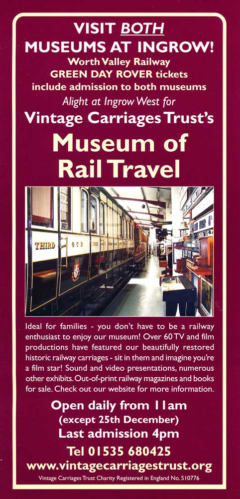 Vintage Carriages Trust - Museum of Rail Travel