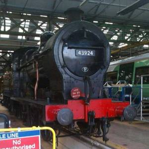 43924 on display in the Bombardier workshops