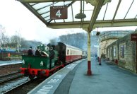 Running into Platform 4 at Keighley (Photo: Paul Holroyd)
