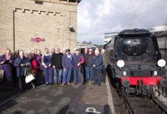 The crews of Stewart's Lane and their partners gather for the 'team' photograph. Photographer: John Sagar