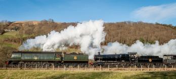 34092 & GWR 2-8-0 3802
