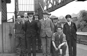 Ingrow East station staff c.1948