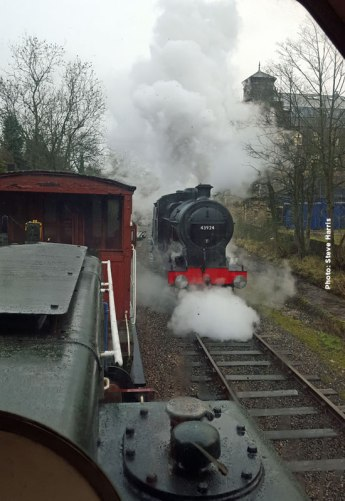 Test run up Haworth Loop, 28th January.