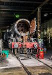 90733 stands in Haworth shed - it will be a while before it is back in traffic with new flues on order.