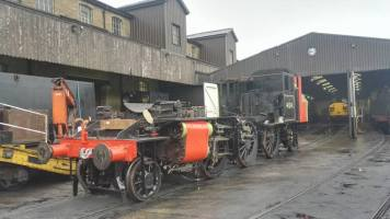 Out in Haworth Yard ready for re-fitting of the tanks.