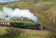 DAY 2: Having left Haworth behind, 60103 pushes on to Oxenhope late in the afternoon.