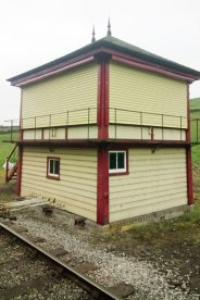 With the new shutters in place, the signalbox takes on a very smart appearance.